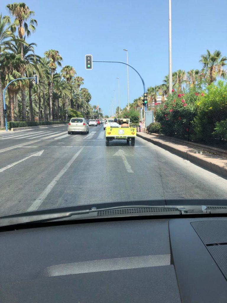 car on road alicante